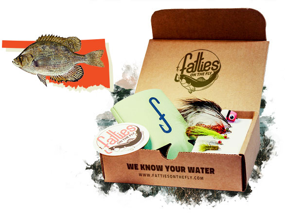 Ok pan fish fatties on the fly for Fly fishing subscription box